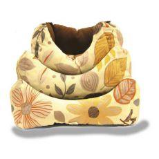 Kutyaágy, őszi virágminta - L