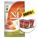 Farmina N&D dog GF PUMPKIN adult mini, boar & apple - 7kg + AJÁNDÉK