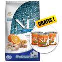 Farmina N&D dog OCEAN Adult Medium & Maxi Codfish and Orange 12 kg + AJÁNDÉK