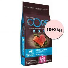 Wellness Core Kutya M/L Felnőtt Óceáni Lazac és Tonhal 10+2 kg