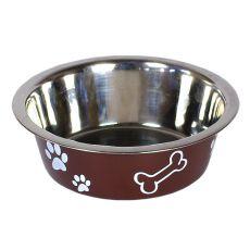 Kutya etetőtál, barna színű, 1,8 l