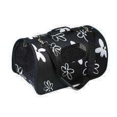 Kutyahordozó, macskahordozó - fekete, 37 x 22 x 20 cm