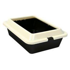 Macska WC, szürke - bézs, 42 × 30 × 12 cm