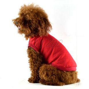 Kutya trikó - rövid ujjas, piros, XXL