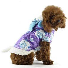 Kabát kutyának - lila, rajzolt bárány figurás, L
