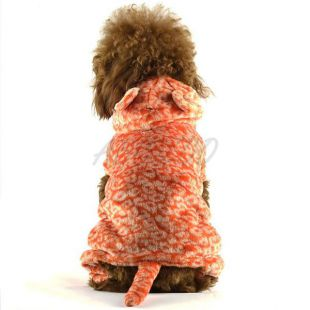 Kutya overál - narancssárga leopárd kosztüm, XXL
