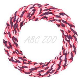 Rágókötél karika kutyáknak, rózsaszín - 14 cm