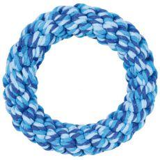 Rágókarika kutyáknak pamutból, kék - 14 cm