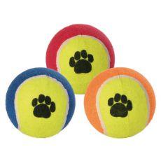 Kutya teniszlabda - színes, 10 cm