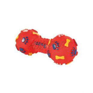 Vinil kutyajáték - súlyzó, 15 cm