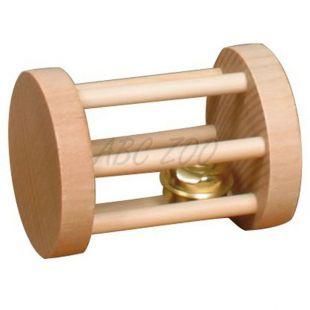 Játék rágcsálóknak - henger alakú, csengővel, 3,5 x 5 cm