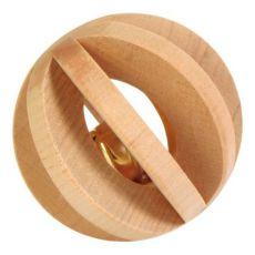 Játék nyúlnak - fából készült golyó csengővel, 6 cm