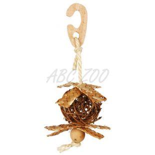 Fonott labda szizál kötéllel madarak számára 5,5 cm