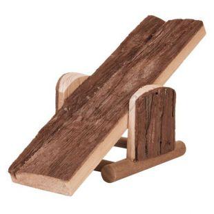 Rágcsáló hinta - fából készült, 22 x 7 x 8 cm