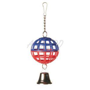 Madárjáték labda csengővel - rácsos, 7 cm