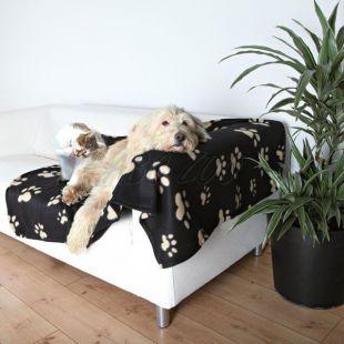 Kutya, macska pléd - bézs mancs, 150 x 100 cm