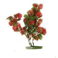 Akváriumi műnövény - pirosas-zöld levelek, 17 cm