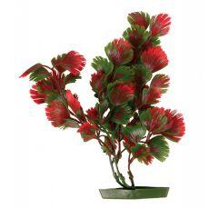Akváriumi műnövény, 25 cm pirosas-zöld levelek