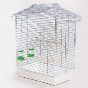 Papagáj kalitka VEGA chrom - 53 x 33 x 68 cm