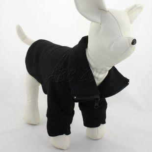 Fekete színű pulóver kutya számára, M