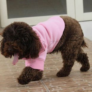 Pulóver kutya számára, cipzáras - rózsaszín színű, L