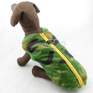 Kabát nagytestű kutyáknak - elasztikus, terepmintás, L - XS
