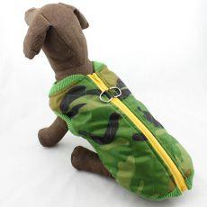 Nagytestű kutyáknak kabát - elasztikus, terepmintás, L - M