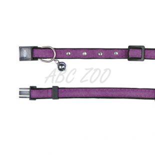 Macska nyakörv, lila, szemises - 18 - 30 cm
