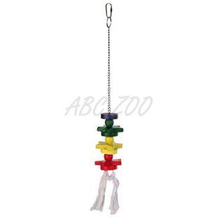 Madárjáték - lánc csillagokkal és kötéllel, 45 cm
