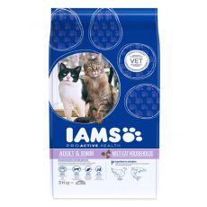 IAMS Multi-Cat csirke és lazachúsos macskaeledel 3 kg