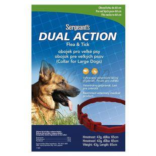 Élősködők elleni nyakörv nagytestű kutyának Sergeant´s - 65 cm