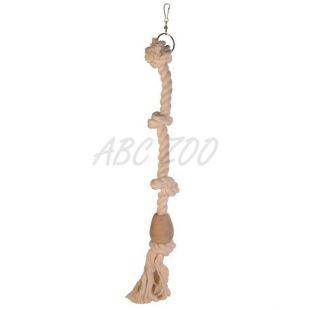 Csomózott mászókötél madárnak - pamut, 60 cm