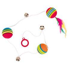 Cica játék - labda és csengő madzagon