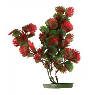 Növény akváriumba - műanyag, 28 cm pirosas-zöld levelek