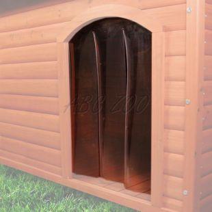 Ajtó kutyaházhoz, műanyag - 38x55cm