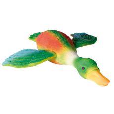 Kutyajáték - színes kacsa, 30cm