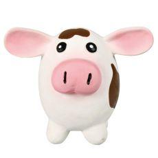 Kutyajáték - latex tehén, 9x11cm