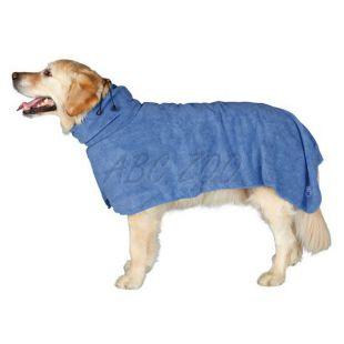 Fürdőköpeny kutyáknak - kék - 75cm
