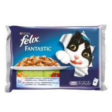 Alutasak macskáknak FELIX - halak zöldséggel zselében, 400 g