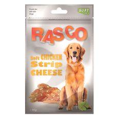 Jutalomfalat kutyának RASCO - csirkecsíkok sajttal, 80 g