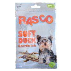 Kutya jutalomfalat RASCO - szendvics kacsahúsból, 80 g