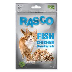 Jutalomfalat RASCO - hal és csirkehús darabok, 80 g