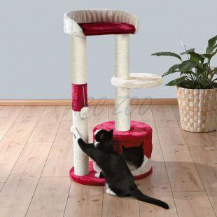 Kaparófa macskáknak PILAR - bézs-piros, 100 cm