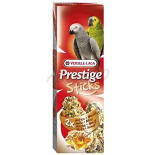 Rudacskák papagájnak PRESTIGE STICKS 2 db - dió és méz