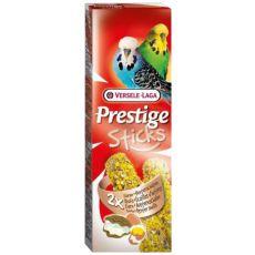 Rudacskák hullámos papagájok részére PRESTIGE STICKS 2 db - osztriga és tojás, 60g