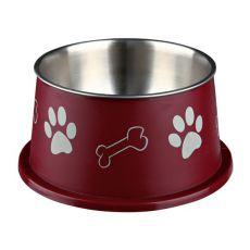 Tálka hosszú fülű kutyáknak, bordó - 0,9 L