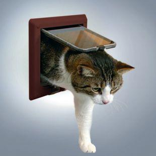 Ajtó macskának - barna színű, 4 pozíció