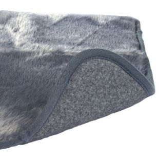 Szürke melegítő alátét kutyusoknak - 100x75cm