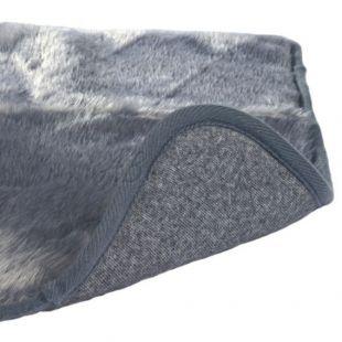 Szürke melegítő alátét kutyusoknak - 75x70cm