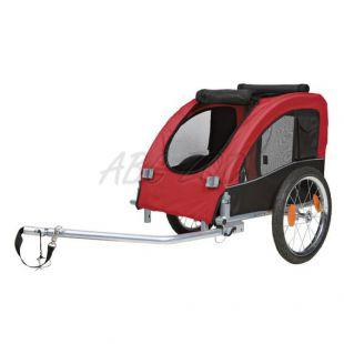 Kerékpár után csatolható kutya szállító kocsi fém kerettel - 45x48x74cm